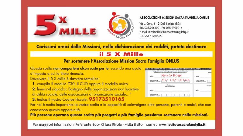 5 x mille solidale
